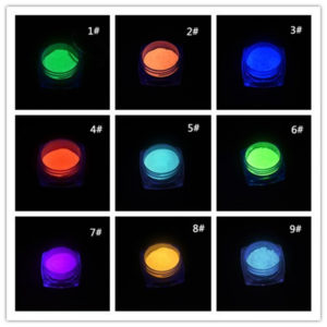 Luminous Pigment Fluorescent Powder for Nail Art Decoration