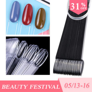 50pcs False Nail Set Oval Shape