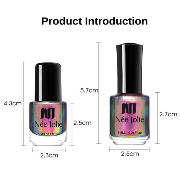 Holographic Chameleon 3D Cat Eyes Nail Polish