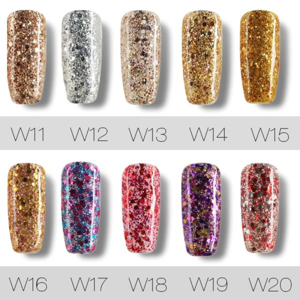 7ml Nail Polish Gel – Varnish Diamond Glitter Gel