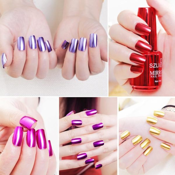 Mirror Effect Chrome Nail Art Polish Varnish